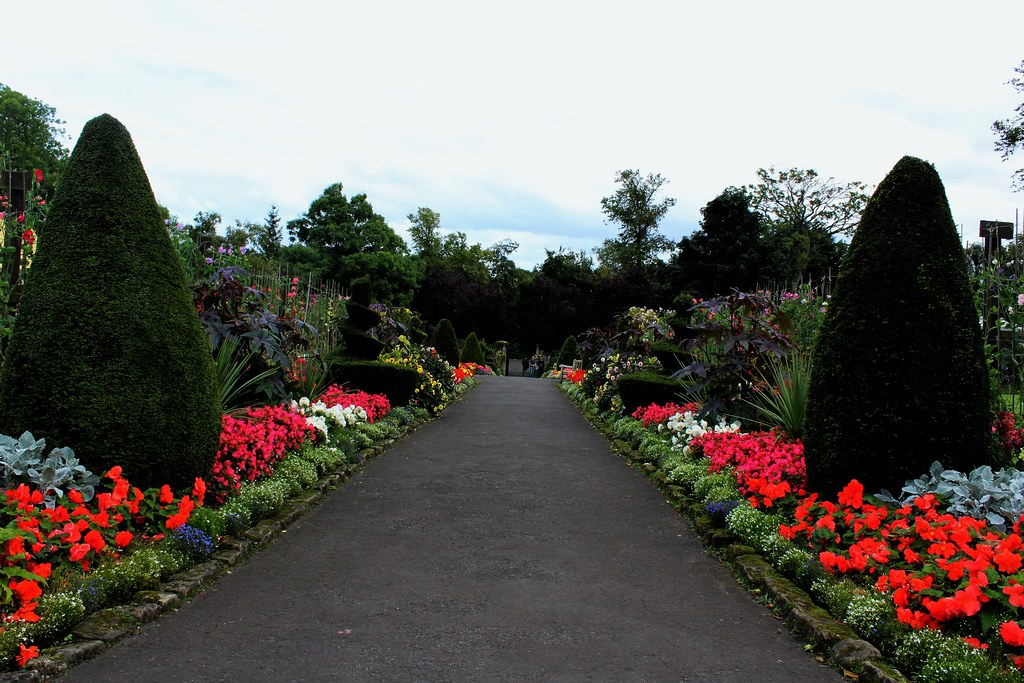 Main path at House for Art Lover Garden, Glasgow