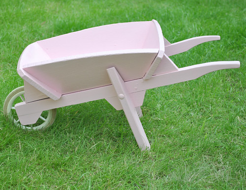 Pink kids wheelbarrow | by toriejayne