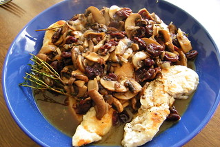 Chicken and Mushrooms with Cherry Sauce | by cseeman