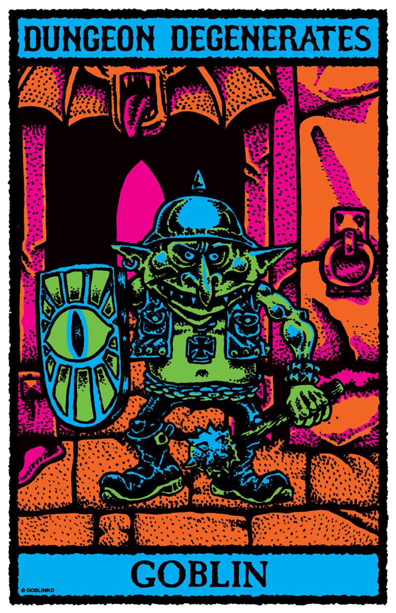 Sean Äaberg - Dungeon Degenerates Poster, Goblin