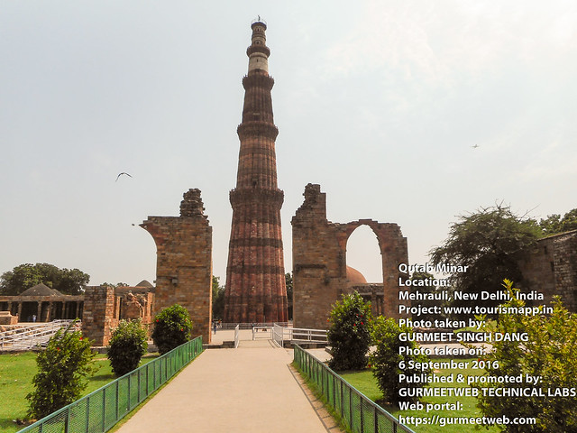 Qutab Minar, Mehrauli, New Delhi, India