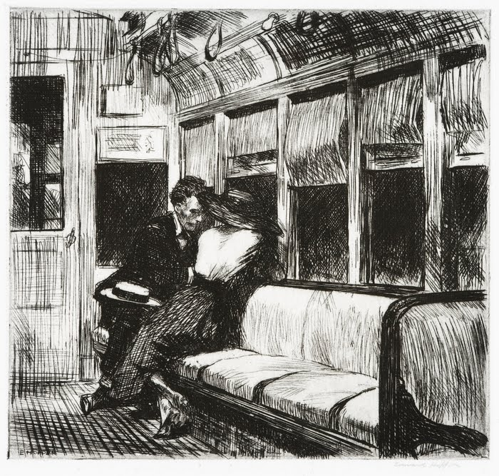 5 Etching Night on the El Train 1918