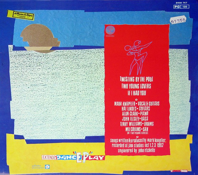 "Dire Straits Twisting By the Pool 12"" EP White Label Vertigo"