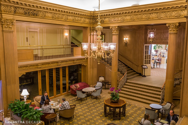 Looking Down at the Lobby of the Fairmont Olympic