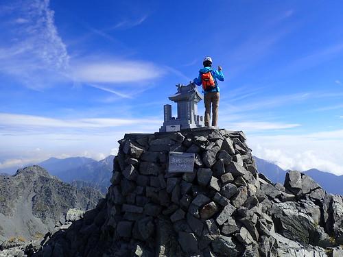 奥穂高岳、登頂