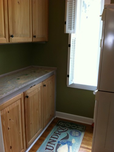 Laundry nook: before | by Cherie Priest