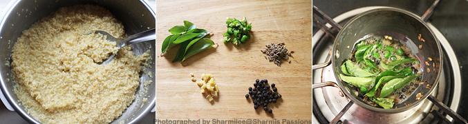 How to make thinai ven pongal - Step3