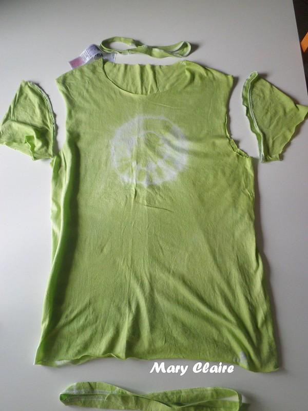 maglietta tagliata