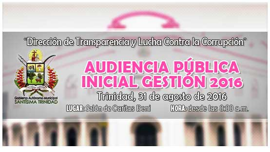 Audiencia Publica Inicial Gestion 2016
