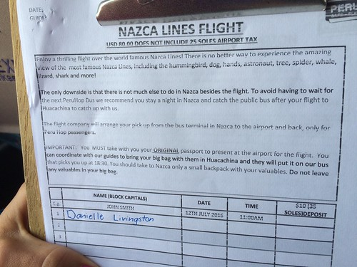 Flight sign up sheet