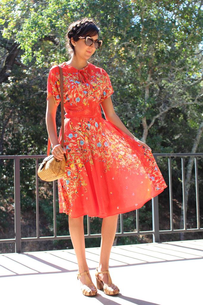 Vintage Red Dress 1
