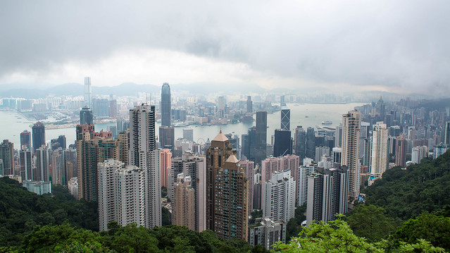 View of Kowloon Island from Victoria Peak, Hong Kong
