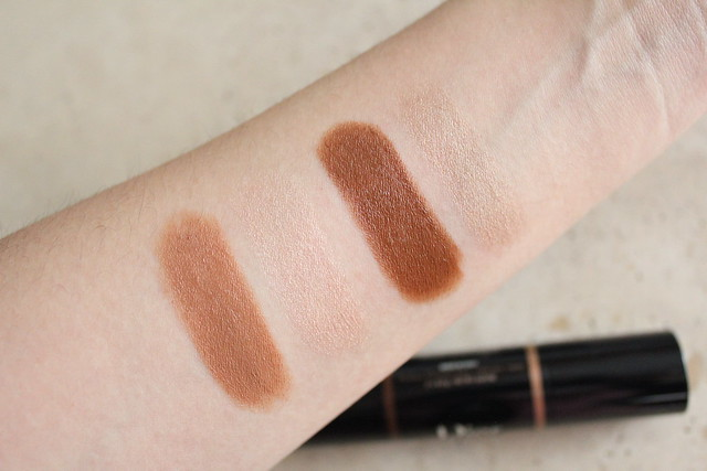 Swatches of Dior Light and Contour Sculpting Stick for fall 20169