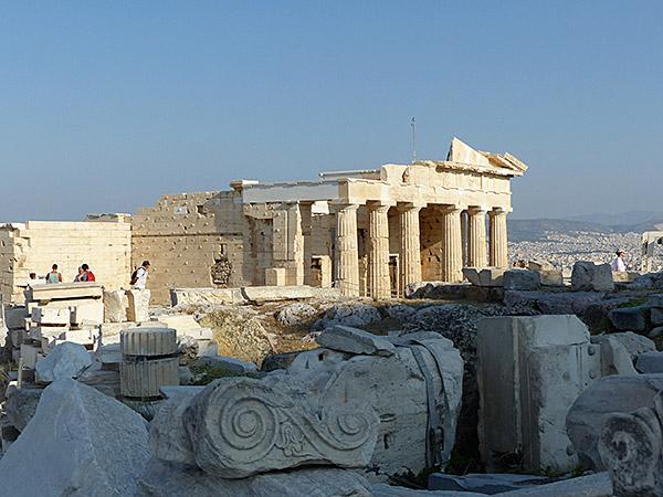 temple et colonnes