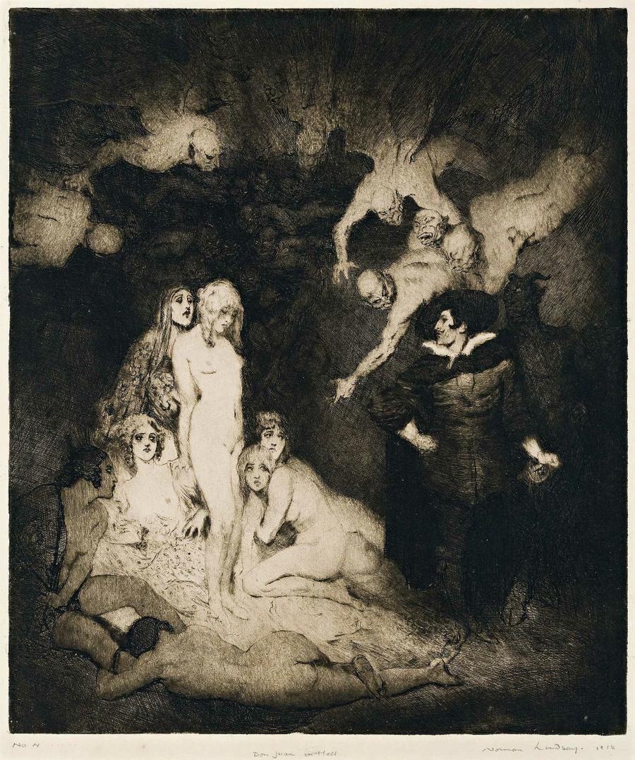Norman Lindsay - Don Juan in Hell, 1918