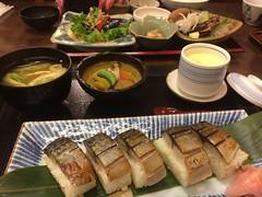 yakisaba set❤︎  #tsukasa #sanbangai #osaka #japan #焼き鯖寿司 #三番街 #梅田 #大阪