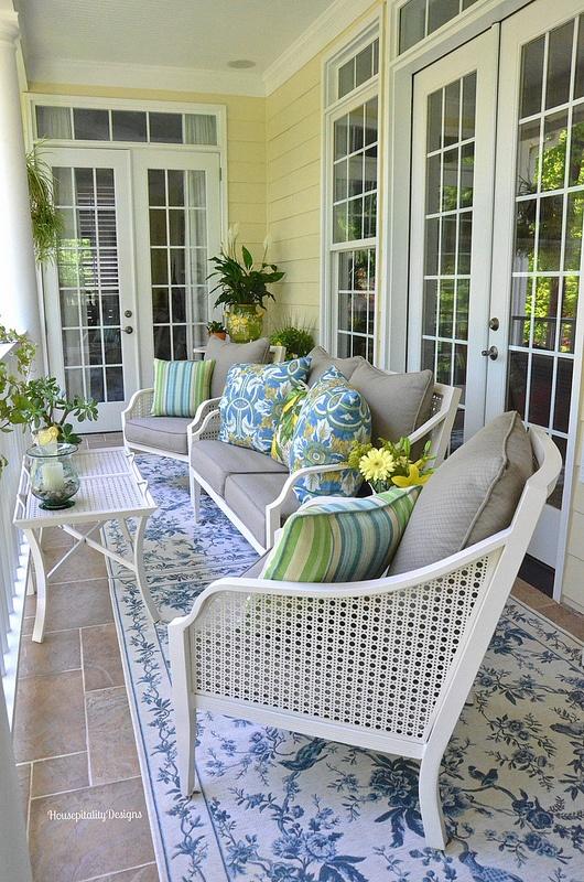 Upper Back Porch - Housepitality Designs
