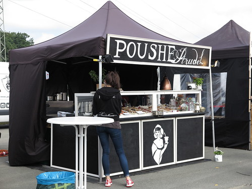 Stand des Strudelhauses Poushe (auf dem Street Food Festival in Osnabrück)
