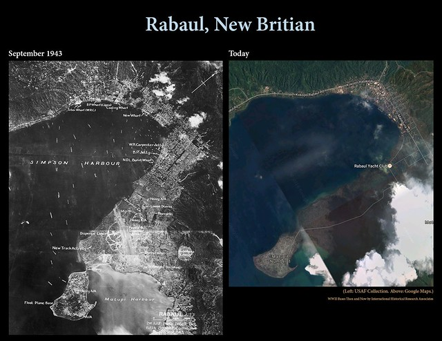 Rabaul then and now