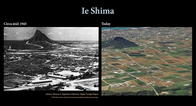 Ie Shima then and now