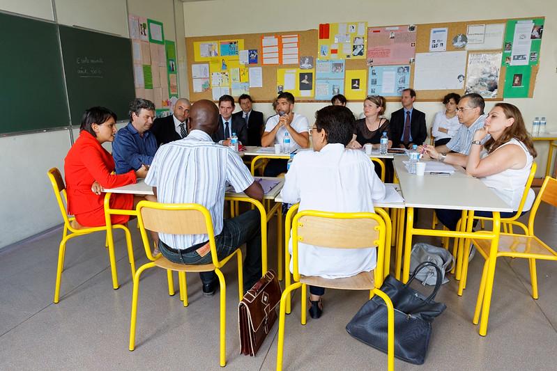 Déplacement à l'occasion de la pré-rentrée: rencontre avec les enseignants