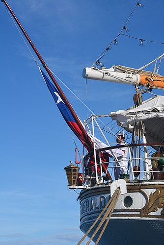 hoisting the ensign