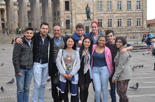 Recorrido de nuestros estudiantes extranjeros por Bogotá.