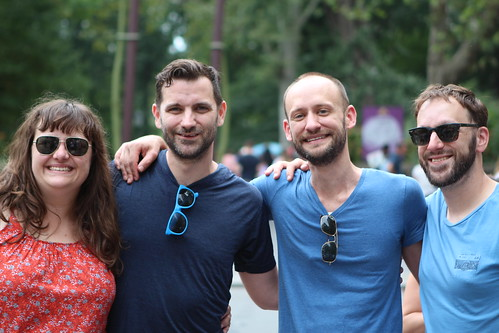 Jen, Ryan, Joe, and Nate Outside Central Park