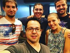 Fede con Aitor, Iban, Clara y Aitor de Bilbao