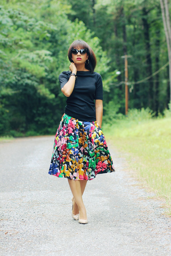 Gap top, J. Crew skirt