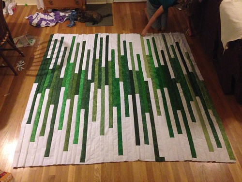 Emma's jelly roll race quilt