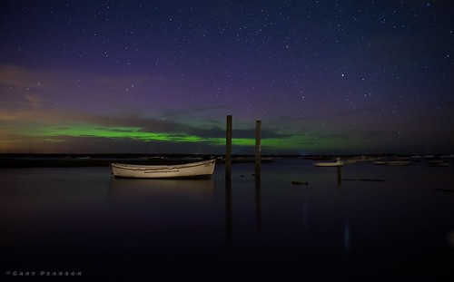 Northern lights from Brancaster Staithe
