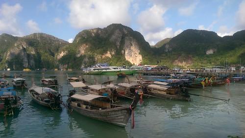 Boats Koh Phi Phi Thailand