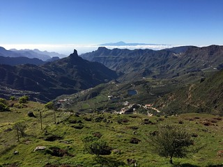 Gran Canaria - A view of Roque Bentayga & Mount Teide