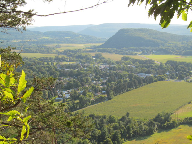 Middleburgh village and Vroman's Nose from The Cliff