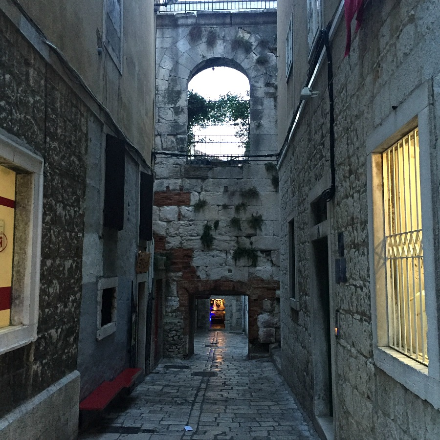 Narrow Streets of Split Croatia - Setting for battle scenes in the movie the Game of Throwns