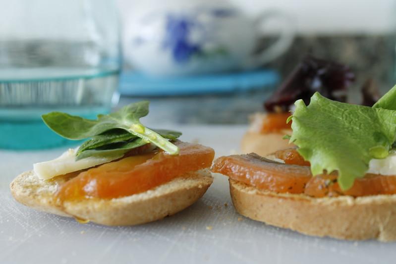 receta montaditos de salmón