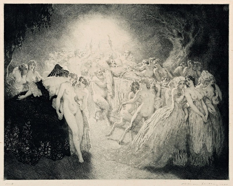 Norman Lindsay - The Funeral March Of Don Juan, 1924