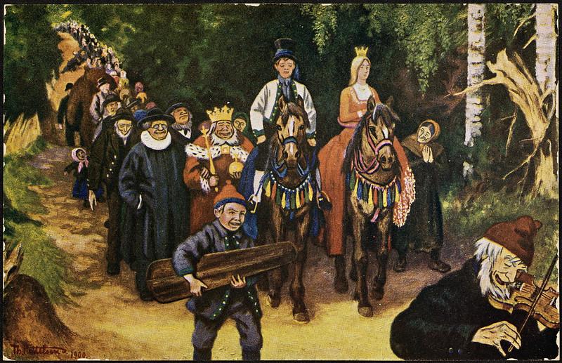 Theodor Kittelsen - Askeladdens Adventure, 1900