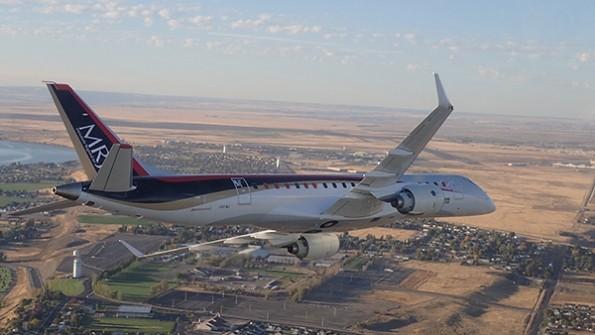 Megérkezett az első MRJ teszrepülőgép Észak-Amerikába