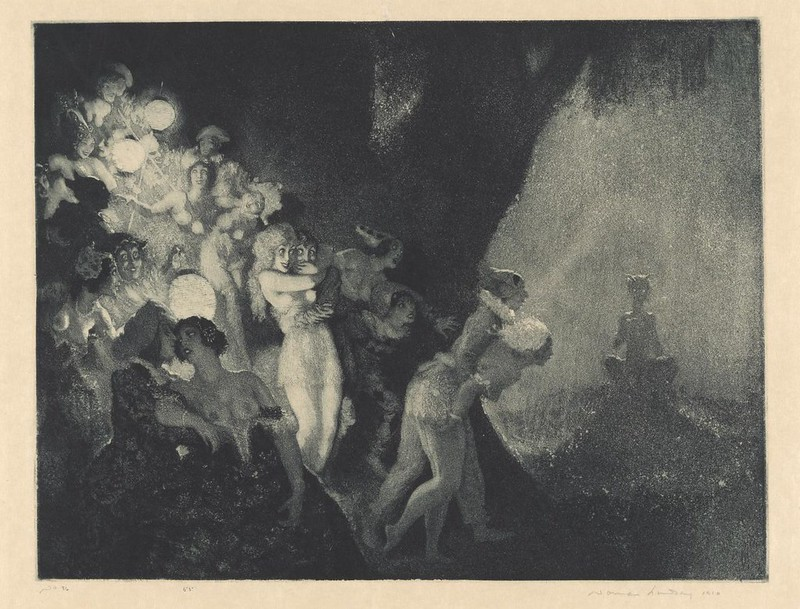 Norman Lindsay - Moonlight's Piper, 1925