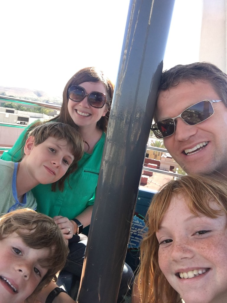 family on ferris wheel