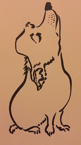 dog attitude sketch