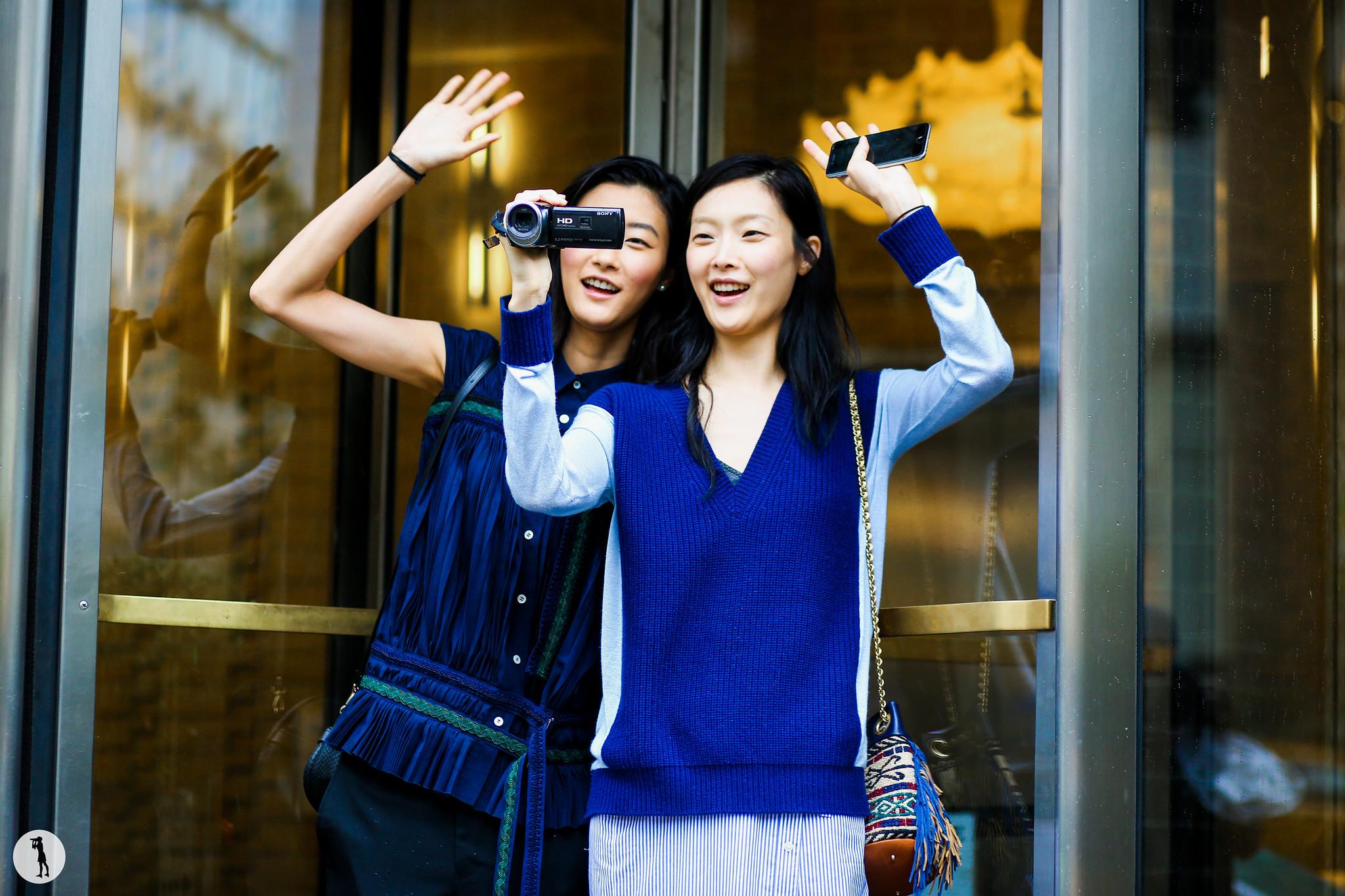 Models Jihye Park and Sunghee Kim at New York Fashion Week