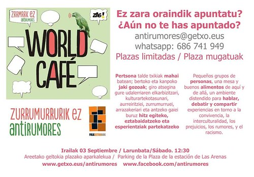 World Café Anti-rumores en Getxo
