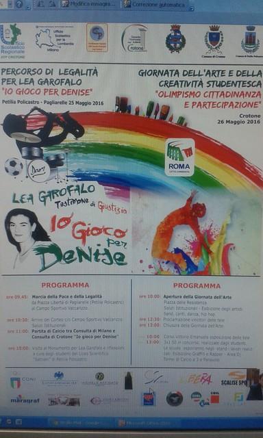 """Crotone chiama e Milano dice grazie! - """"Io gioco per Denise""""new album"""