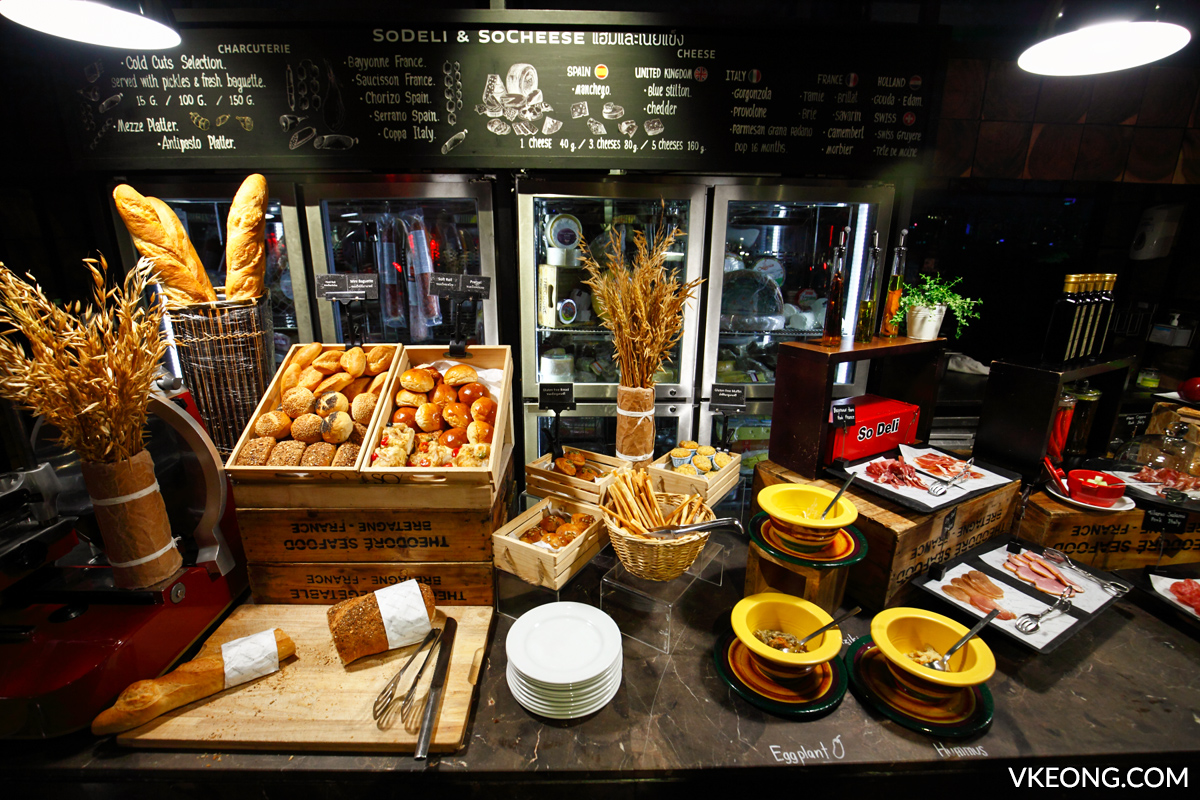 Red Oven So Sofitel Buffet Bread Cheese Deli Selection