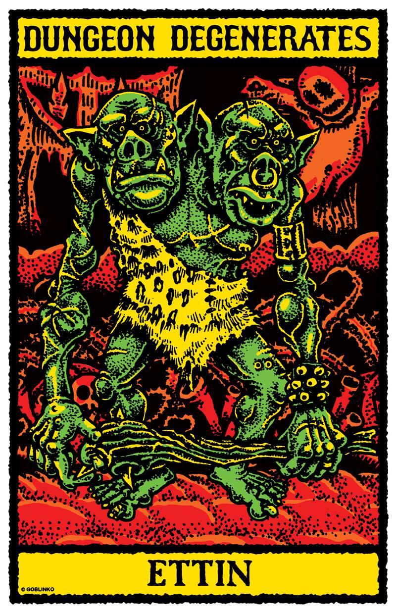 Sean Äaberg - Dungeon Degenerates Poster, Ettin