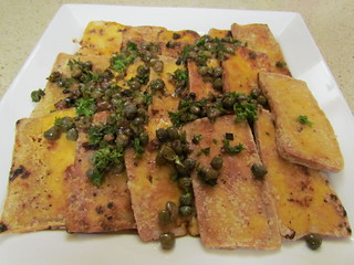 Crispy Tofu with Sizzling Caper Sauce