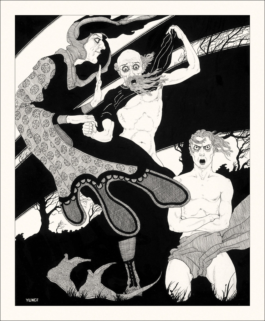 John Yunge Bateman - Illustration from King Lear - Act III, Scene 4, 1930